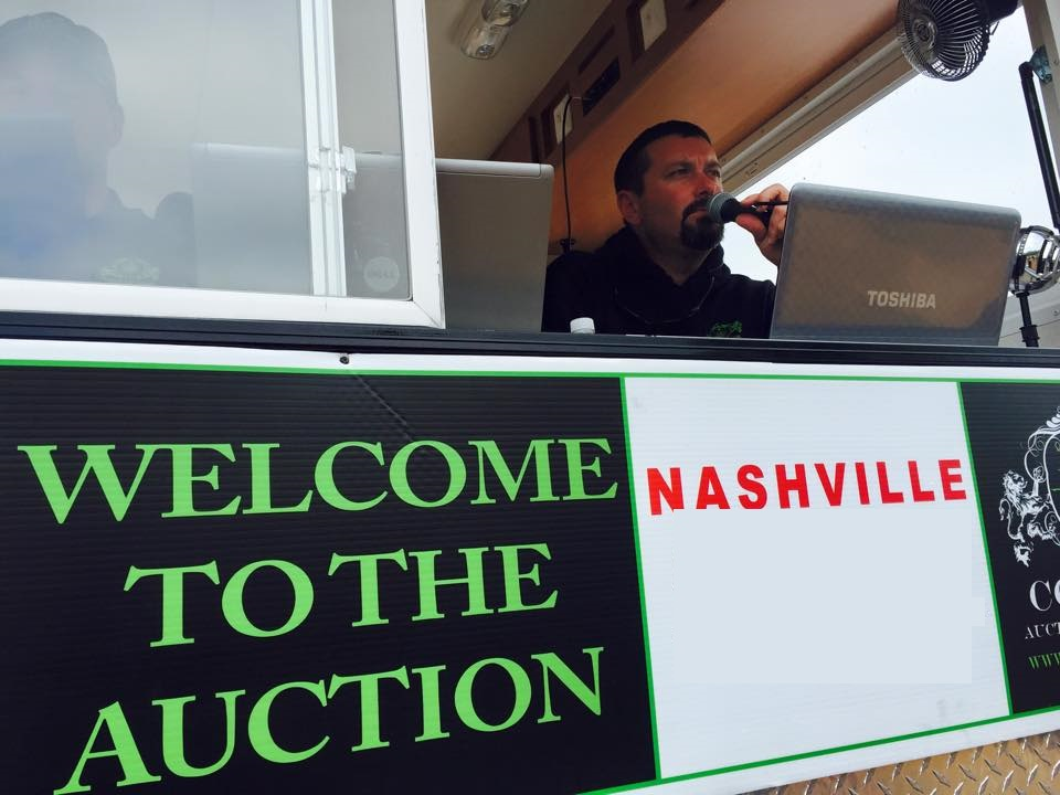 auctioneer in action