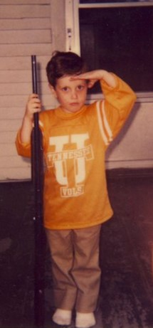 Justin as a little boy