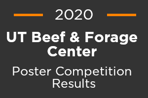2020 UT Beef and Forage Center Poster Competition Results