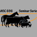 Animal icons in front of an outline of state of Tennessee and titled ANSC 696 Seminar Series