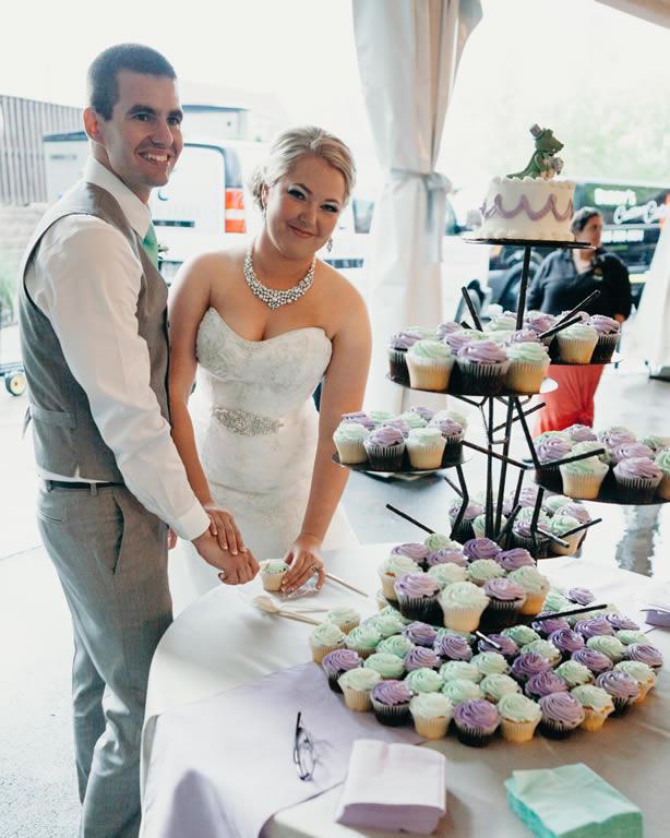 Liz at her wedding