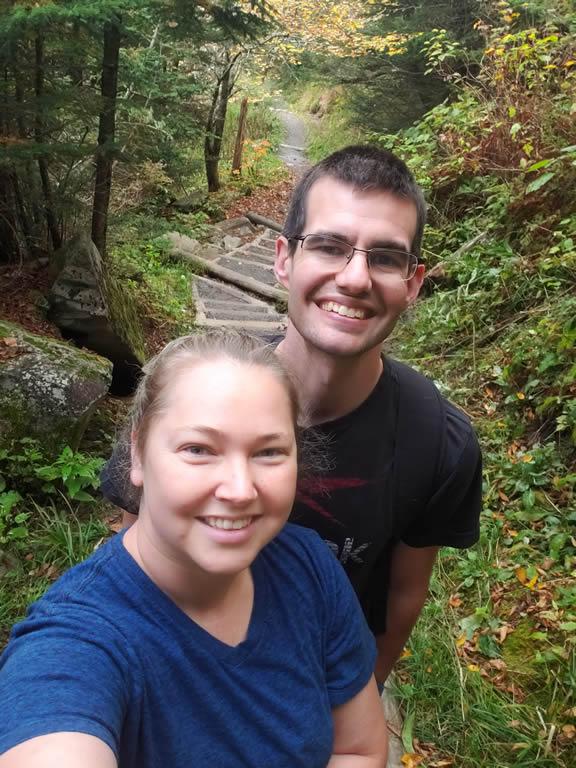 Liz and her husband selfie