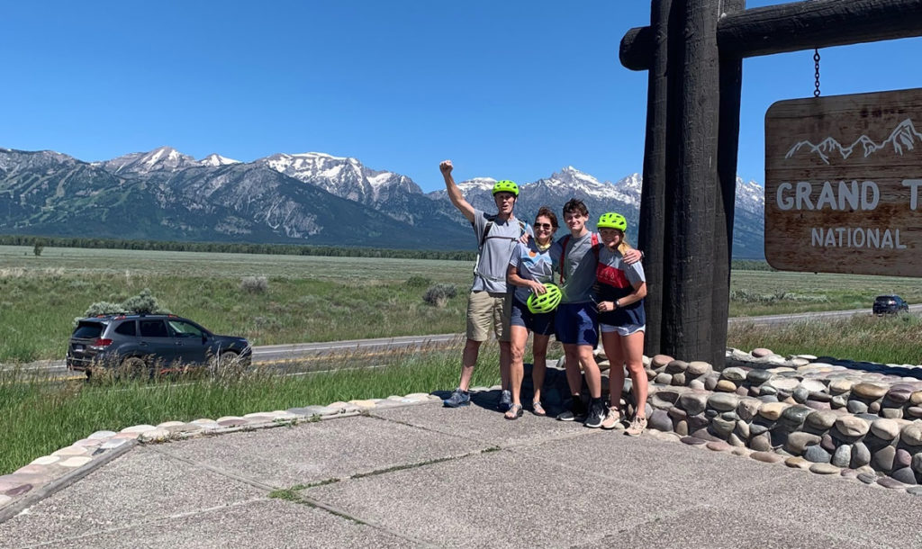 Brynn and family at the Grand Tetons