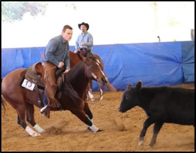 sawyer riding in a rodeo