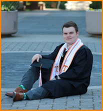 sawyer at graduation