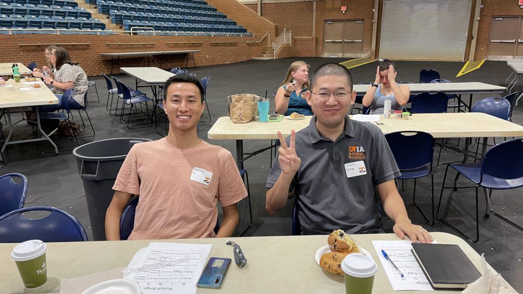 New student with Huiwen Wang