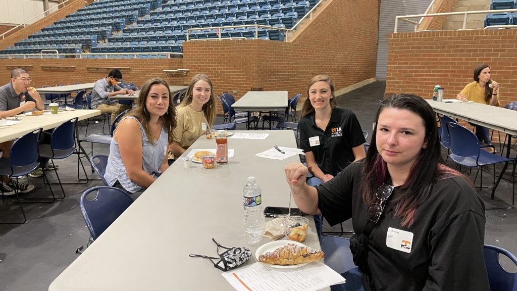 New students with Taylor Seay and Ashton Kelly