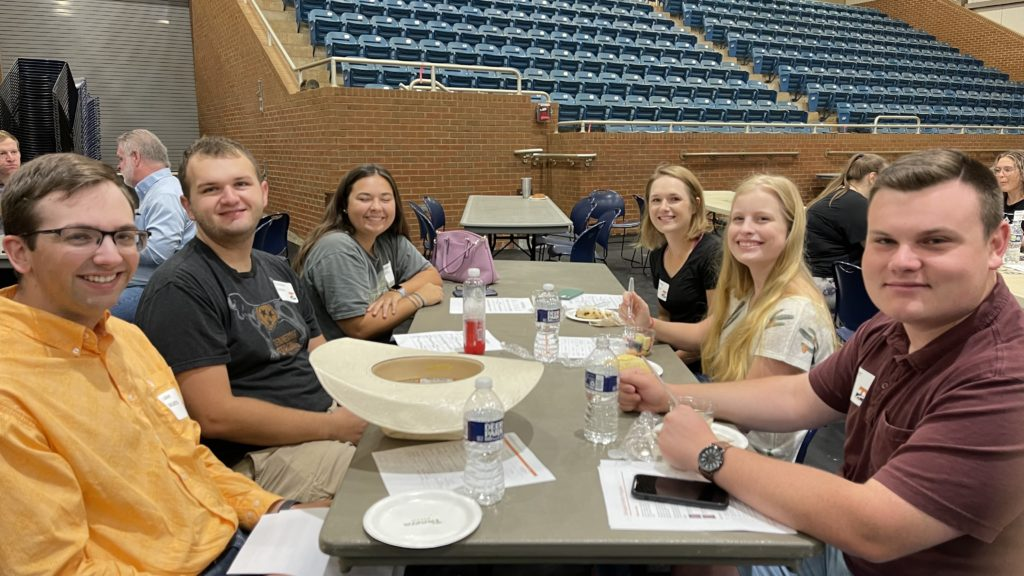 A table of new graduate students