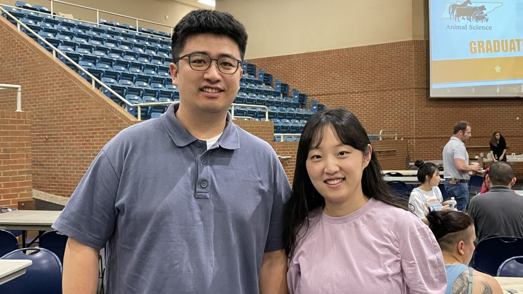 Two graduate students