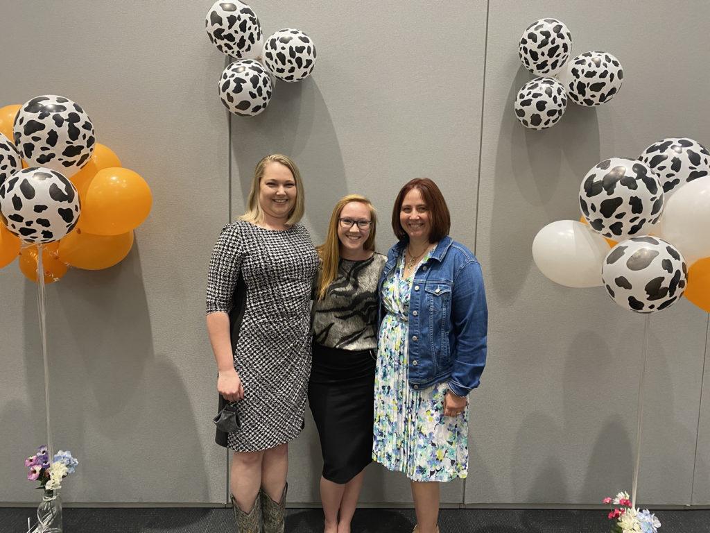Caitlin with Liz Eckelkamp and Gina Pighetti